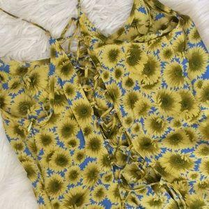 Moda International Dresses - Vintage Moda Int'l Sunflower Print Dress